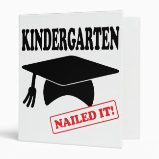 Kindergarten Nailed It 3 Ring Binder