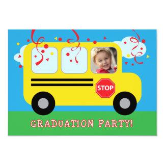 Kindergarten or Preschool Graduation Photo Invitat Card
