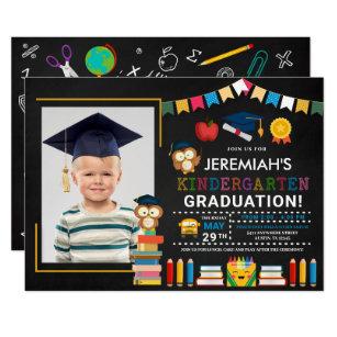 Kindergarten Graduation Invitation Template from rlv.zcache.com