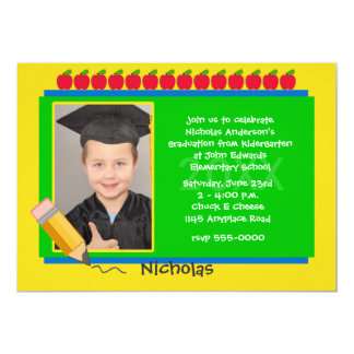 Kindergarten Photo Graduation Party Invitation