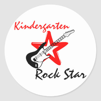 Kindergarten Rock Star Classic Round Sticker