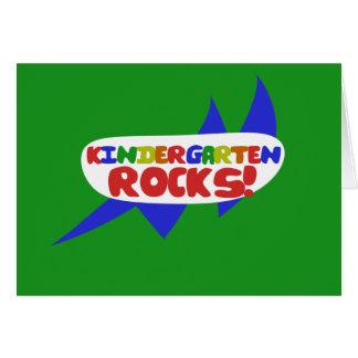 Kindergarten ROCKS Card