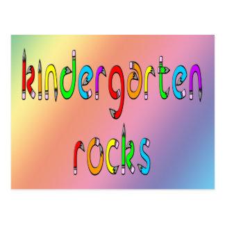 Kindergarten Rocks - Pencil Postcards