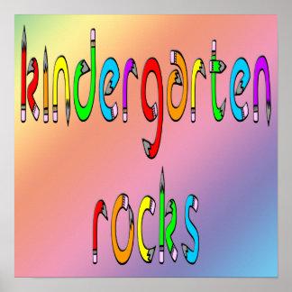 Kindergarten Rocks - Pencil Poster