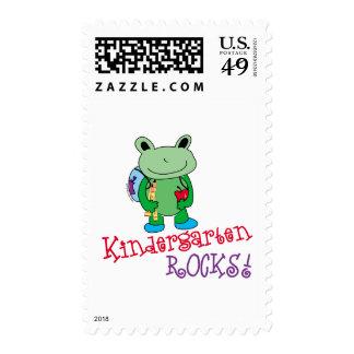 Kindergarten Rocks Postage Stamp