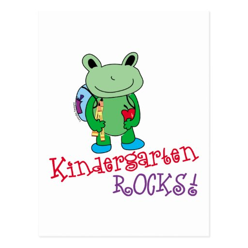 Kindergarten Rocks Postcard