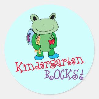 Kindergarten Rocks Round Stickers