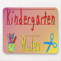 Kindergarten Rules Mouse Pad