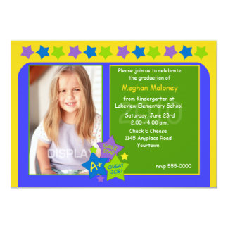 Kindergarten Star Graduation Party Invitation