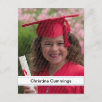 Kindergarten Stripes Graduation Announcement
