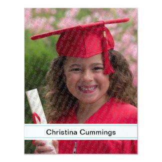 Kindergarten Stripes Graduation Announcement