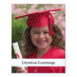 "Kindergarten Stripes Graduation Announcement 4.25"" X 5.5"" Invitation Card"