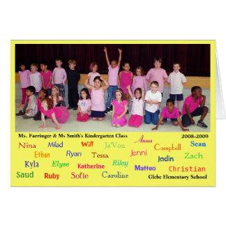 Kindergarten teacher appreciation - final greeting card