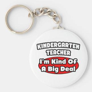 Kindergarten Teacher...Big Deal Basic Round Button Keychain