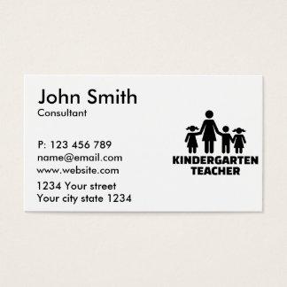 Kindergarten teacher business card
