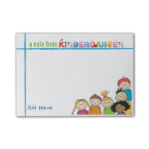 Kindergarten Teacher Custom Name Post-it Notes