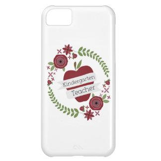 Kindergarten Teacher Floral Wreath Red Apple iPhone 5C Cover