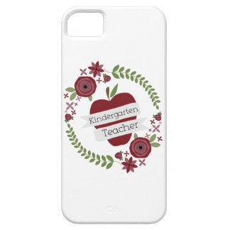 Kindergarten Teacher Floral Wreath Red Apple iPhone 5 Cases