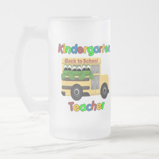 Kindergarten Teacher Gift 16 Oz Frosted Glass Beer Mug