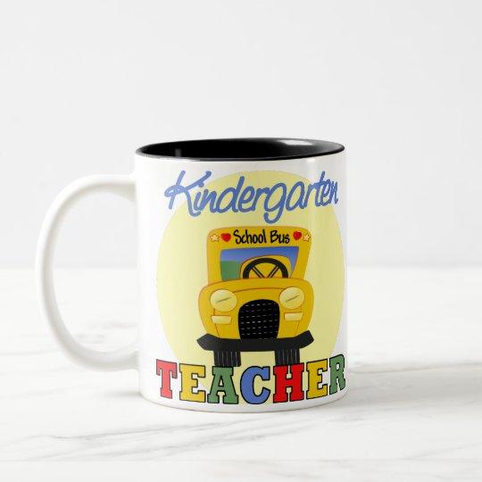 Kindergarten Teacher Gift Two-Tone Coffee Mug