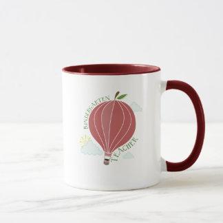 Kindergarten Teacher Hot Air Balloon Apple Mug