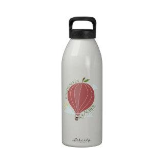 Kindergarten Teacher Hot Air Balloon Apple Water Bottle