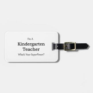 Kindergarten Teacher Luggage Tag