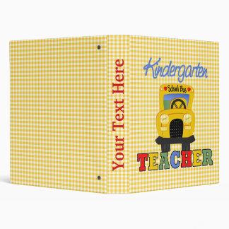 Kindergarten Teacher Notebook 3 Ring Binder