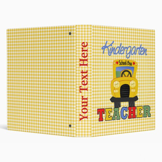 Kindergarten Teacher Notebook 3 Ring Binder