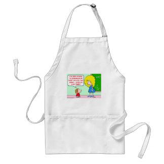 kindergarten teacher paid adult apron
