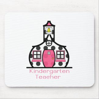 Kindergarten Teacher Polka Dot Schoolhouse Mouse Pad
