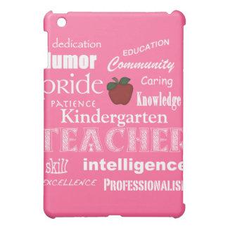 Kindergarten Teacher Pride+Red Apple-Pink iPad Mini Cases