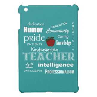 Kindergarten Teacher Pride+Red Apple-Soft Blue Cover For The iPad Mini