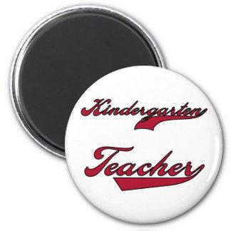 Kindergarten Teacher Red 2 Inch Round Magnet