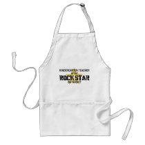 Kindergarten Teacher Rock Star Adult Apron