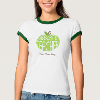 Kindergarten Teacher T Shirt - Green Apple