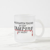 Kindergarten Teacher Vampire by Night Frosted Glass Coffee Mug