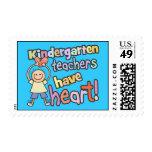 Kindergarten Teachers Have Heart Stamps