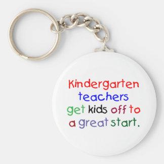 Kindergarten Teachers Basic Round Button Keychain