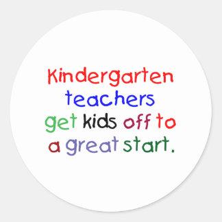 Kindergarten Teachers Round Stickers