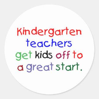 Kindergarten Teachers Round Sticker