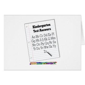 Kindergarten Test Greeting Card