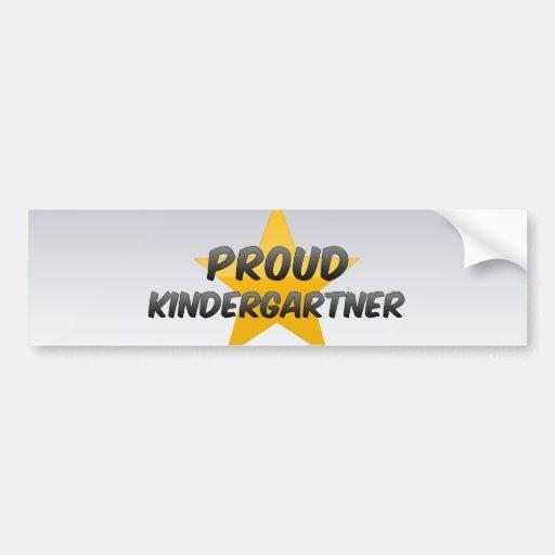Kindergartner orgulloso pegatina para auto