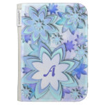 Kindle Case abstract lotus flowers