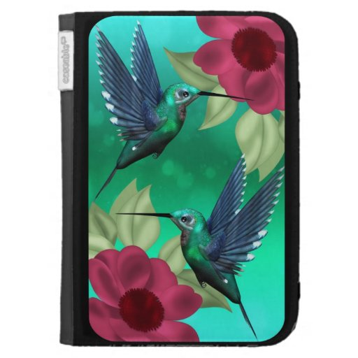 kindle case with humming birds
