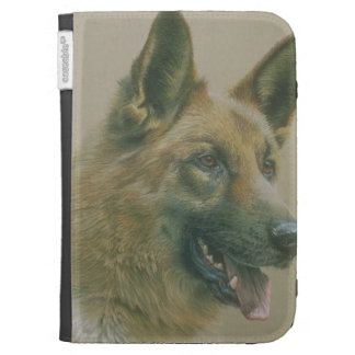 Kindle Case With Picture Of A German Shepherd Dog