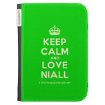 [Crown] keep calm and love niall  Kindle Cases