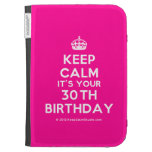 [Crown] keep calm it's your 30th birthday  Kindle Cases
