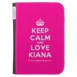 [Crown] keep calm and love kiana  Kindle Cases