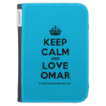 [Crown] keep calm and love omar  Kindle Cases